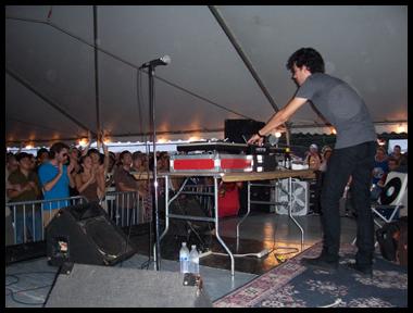 Co-Curator for Pitchfork Music Festival & Chicago SummerDance DJ series. Matthew Dear in photo 2006.