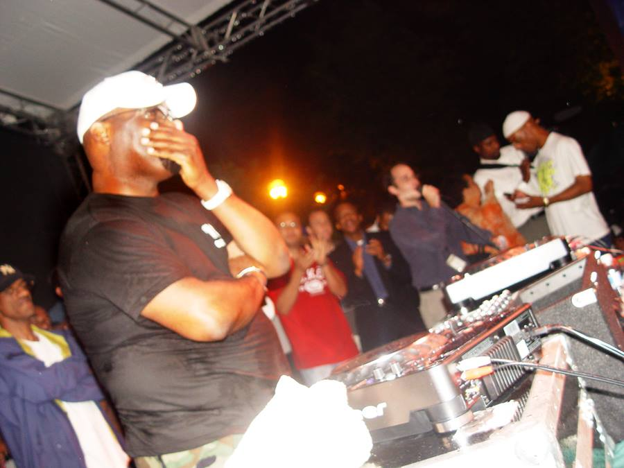 """Creator, Producer and Curator for Chicago SummerDance DJ Series. An emotional DJ Frankie Knuckles in photo on """"Frankie Knuckles Day"""" as proclaimed by Mayor Daley in Chicago."""