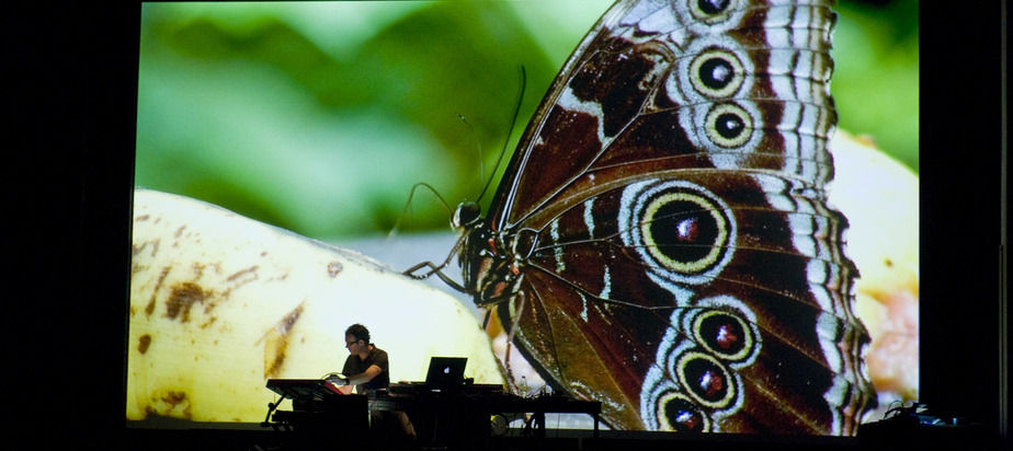 Event Producer, Consultant for Mutek Festival Chicago 2010. In photo: Canadian electronic artist, Thierry Gauthier performs.