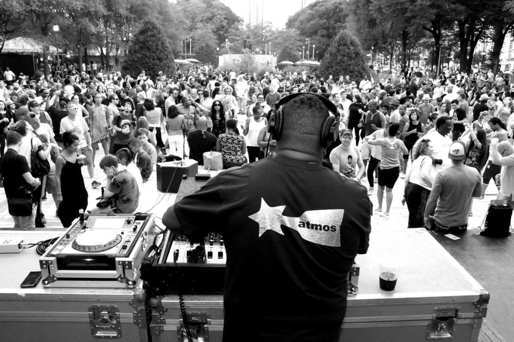 Creator, Co-Curator for Chicago SummerDance DJ Series 2015. DJ Derrick Carter in Grant Park in photo.