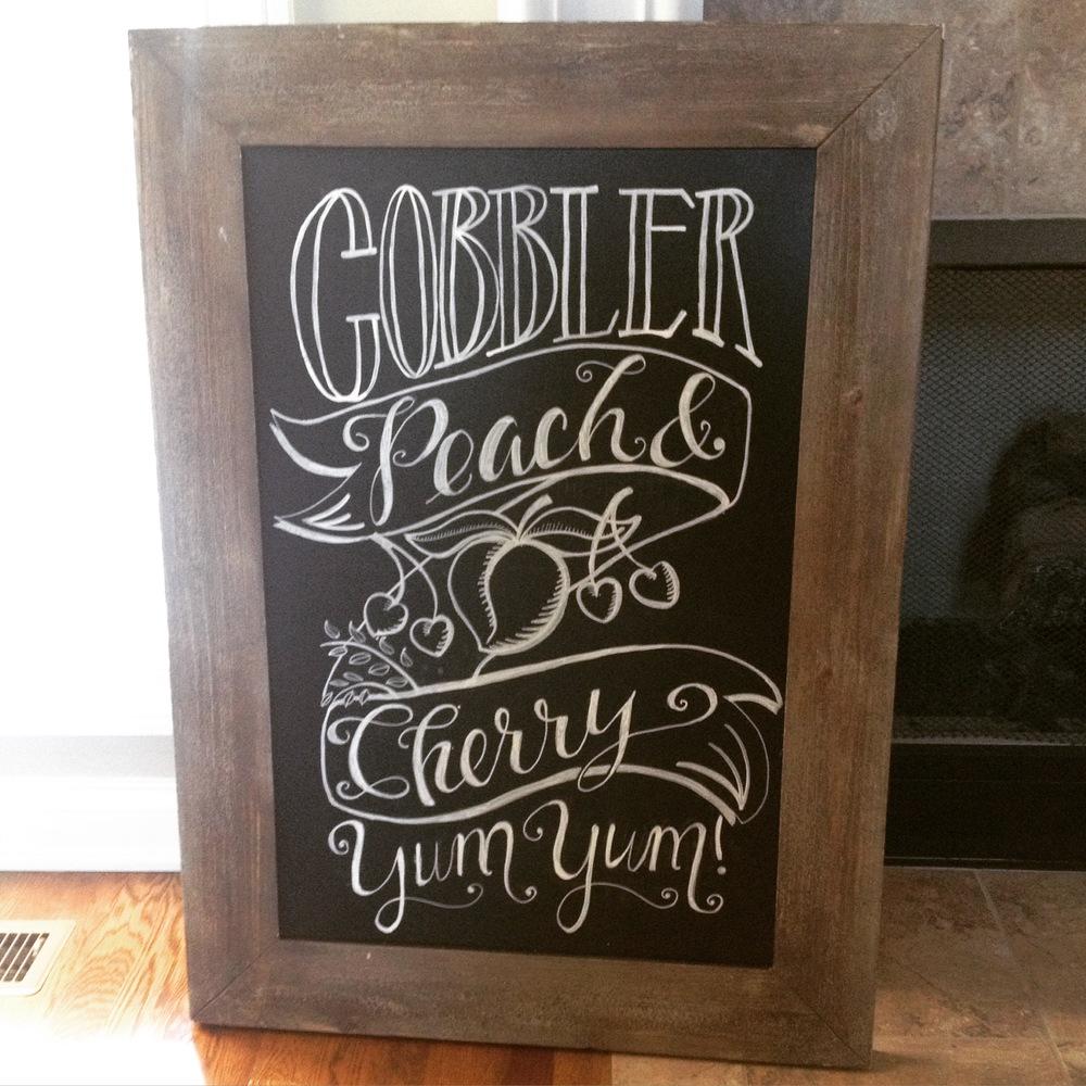 cobbler chalkboard