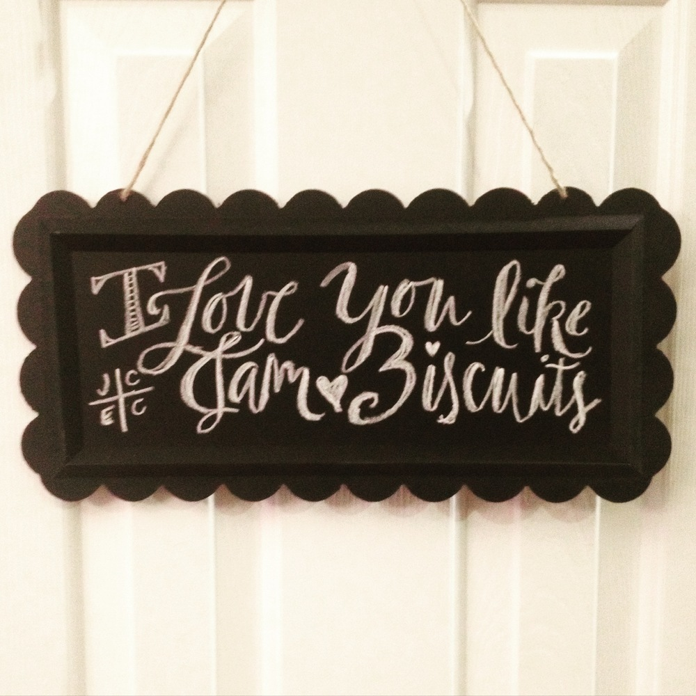 biscuit chalkboard