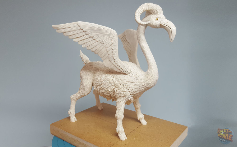 Flamingoat clay sculpt.  By Nathan Flynn
