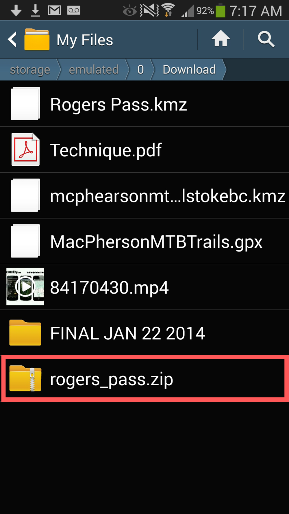 Image 7: Click on 'rogers_pass.zip'.