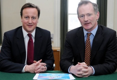 David Cameron with John Penrose, Parliamentary Secretary and Minister for Constitutional Reform