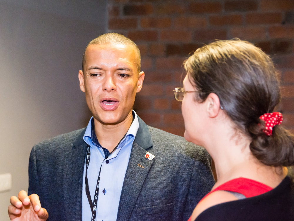 Clive Lewis at our post-rally reception