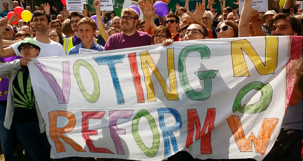 Great Gathering for voting reform, July 2015