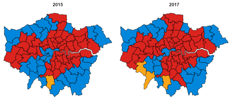 Not a single constituency changed hands in East London, despite the highest voter volatility since 1931.