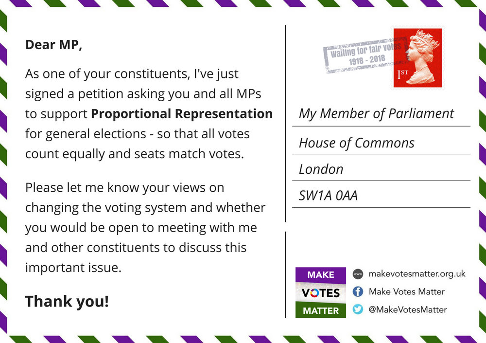 Tweet a postcard to your MP