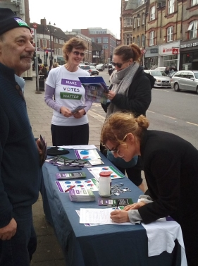 Join other supporters to PR to help sign up the public to a petition to your local MP.
