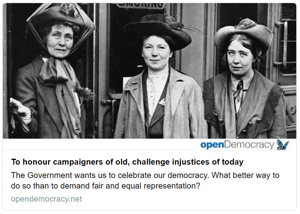 Helen Pankhurst op-ed, Open Democracy