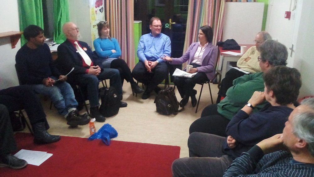 Labour MP Catherine West in conversation with MVM North London.