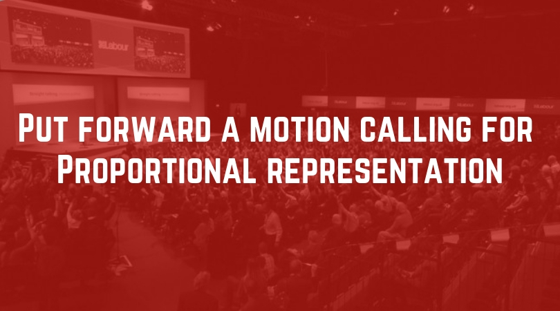 Put forward a motion calling for PR
