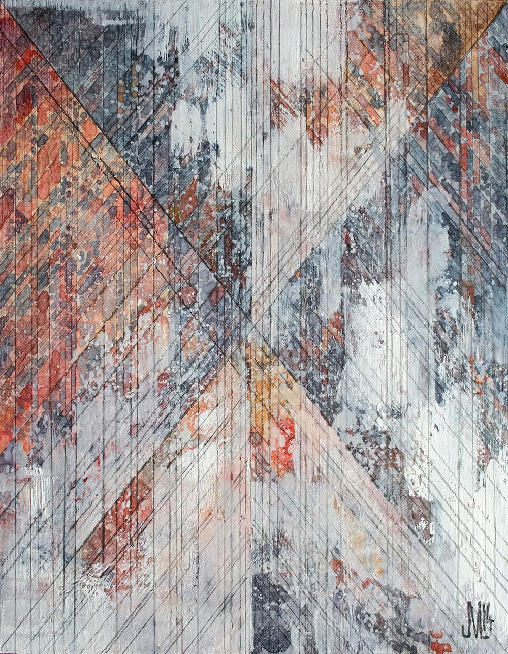 "Plenum  Watercolor, acrylic, and graphite on panel 11 x 14"" 2014"