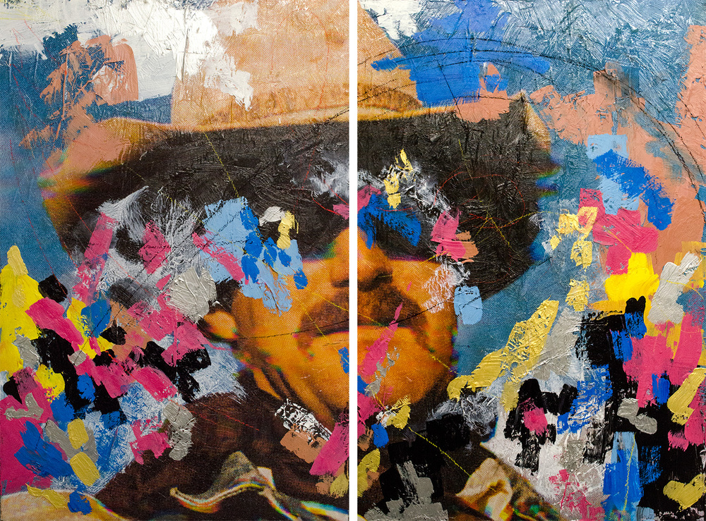 """Ecotone  [diptych] Assemblage on panel 50 x 36"""" 2014   View more of this piece at  Behance"""