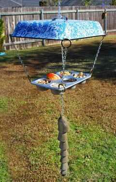 Muffin Tin Bird Feeder