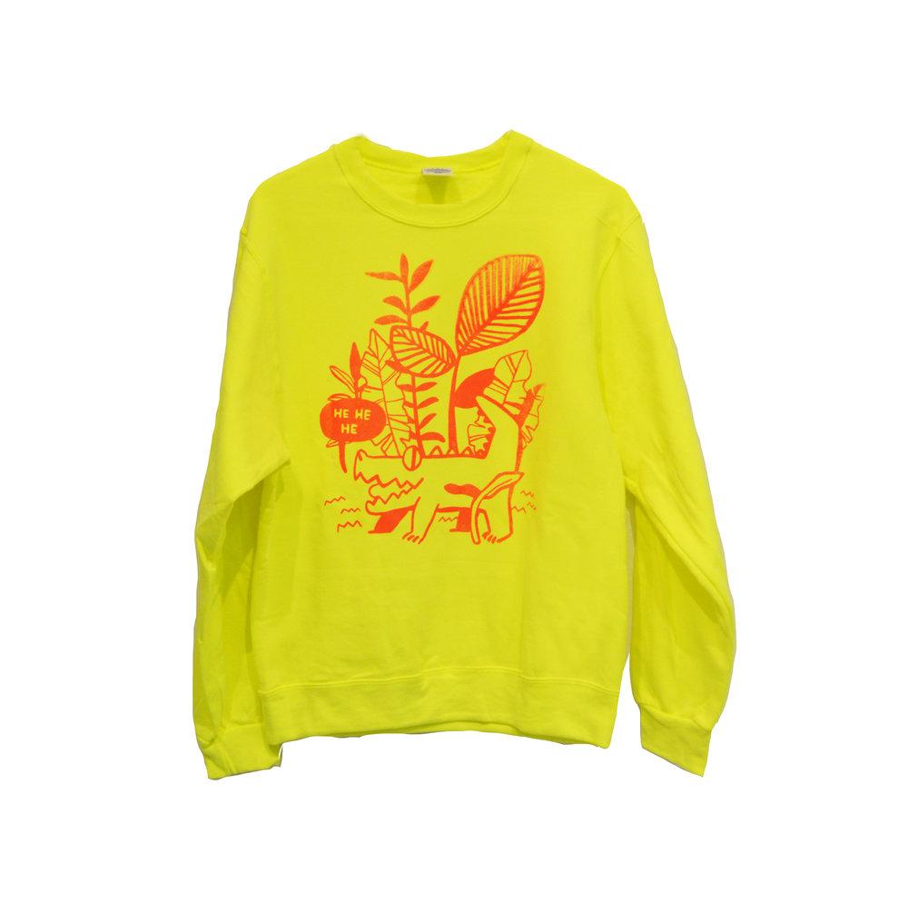 Hand-silkscreened Sweater