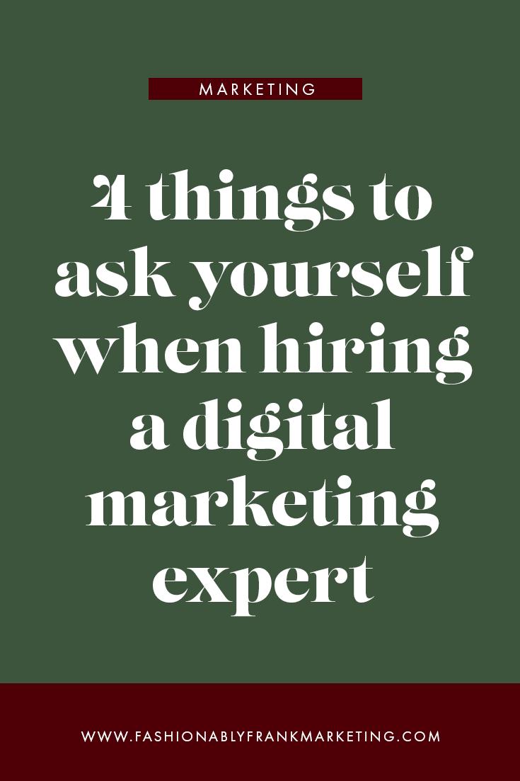 Hiring a Digital Marketing Expert
