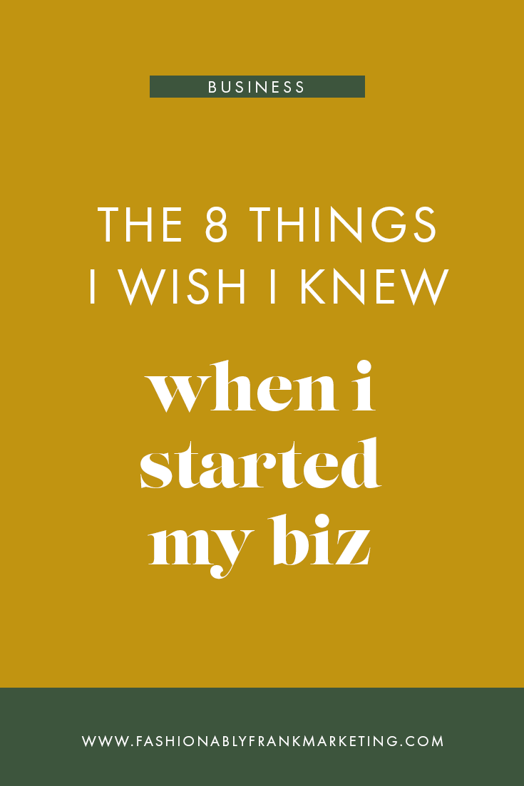 Things I Wish I Knew Before Starting a Business