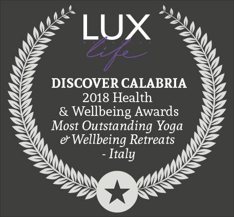 2018 WINNER BESTYOGA & WELLBEING RETREATS IN ITALY - BY: LUX LIFE MAGAZINE, UK
