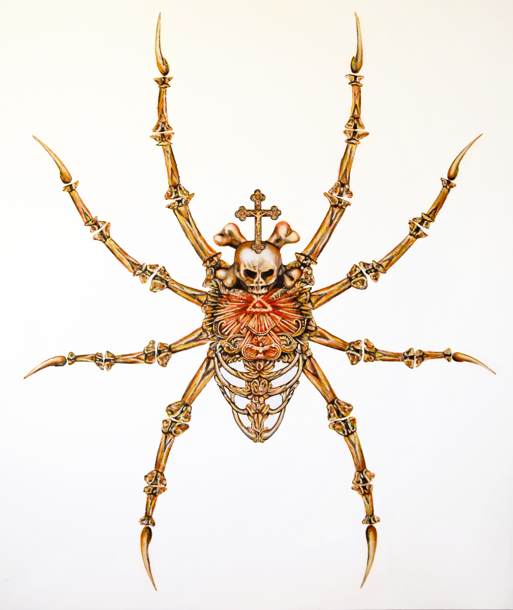 Arachne, IHS series, 2015, Oil on Canvas, 75x 63 (190 x 160 cm)