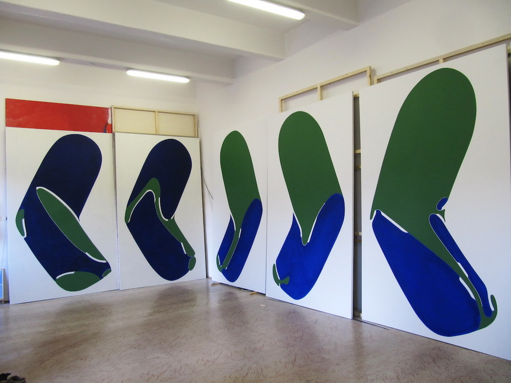 Disguise series, 2014, Oil on Canvas, 126 x 78 inch, (320,4 x 199 cm) each