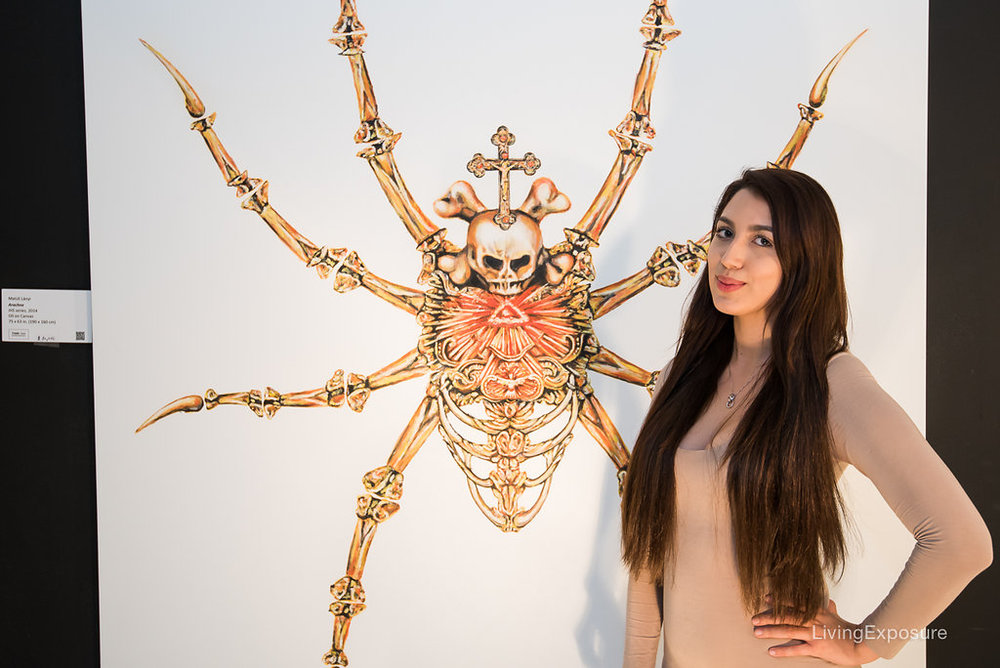 Matus Lanyi, Arachne, 2015, Oil on Canvas, 75 x 63 inch (190 x 160 cm)