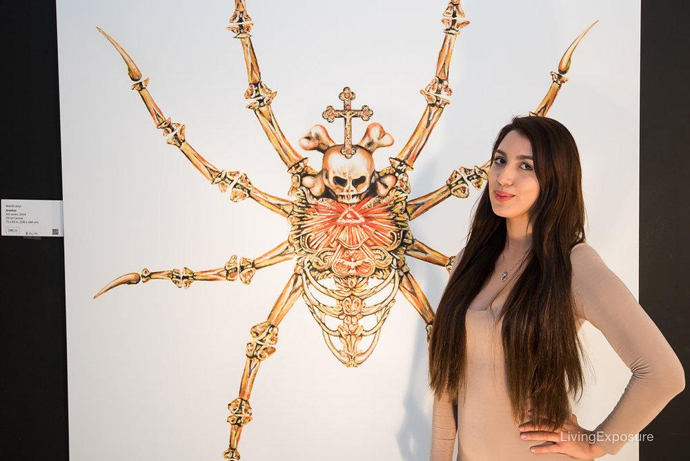 Matus Lanyi, Arachne, 2015, Oil on Canvas, 75 x 63 inch (190 x 160 cm)