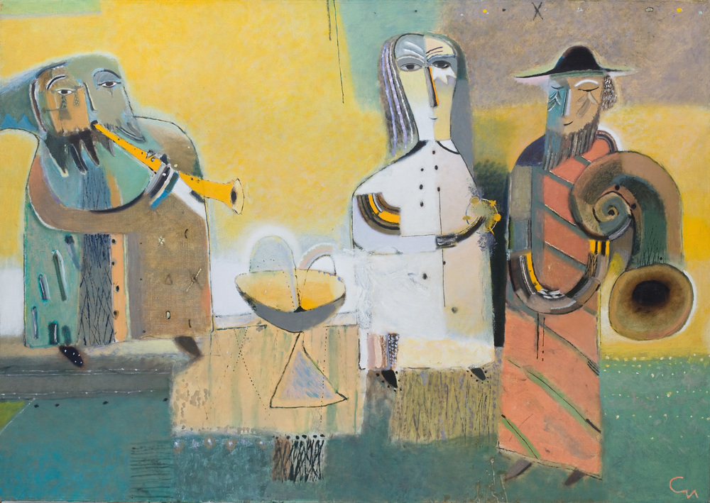 Quartet, 2015, Oil on Canvas, 47x 67 inch (120х170cm)