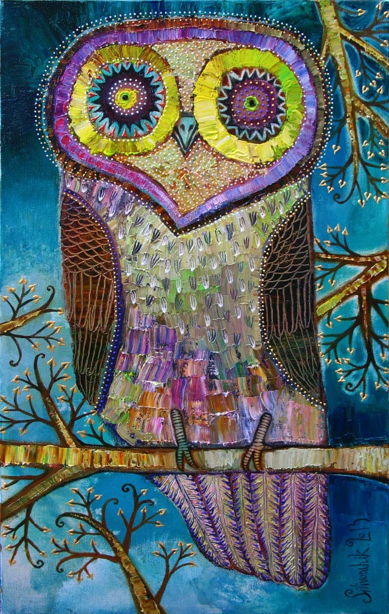 Owl. 2013. 24 x 16 in (60х40cm). Oil on canvas.