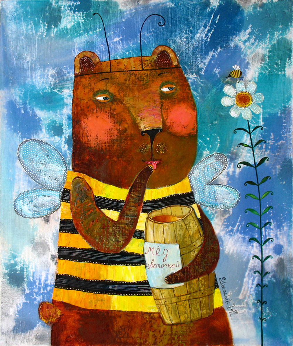 Big Bee. 2012. 28 x 24 in (70х60cm). Oil on canvas.