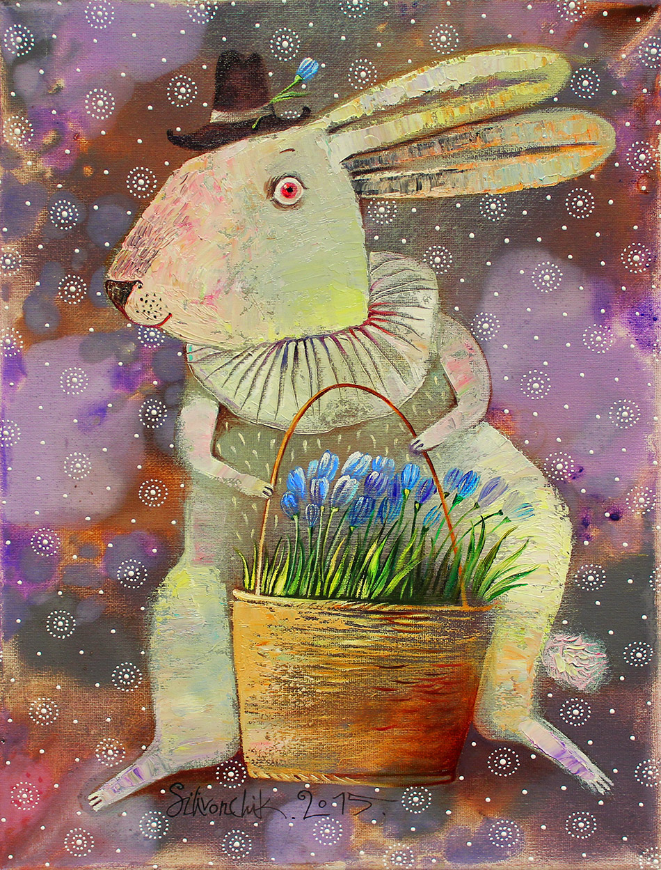 March Hare. 2015. 16 x 12 in (40х30cm). Oil on canvas.