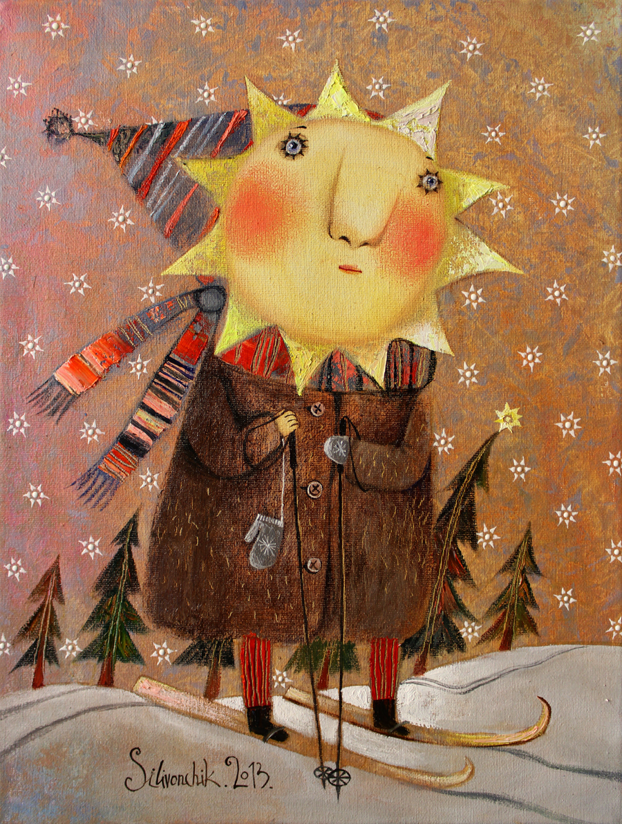 Winter Sun. 2013. 16 x 12 in (40х30cm). Oil on canvas.