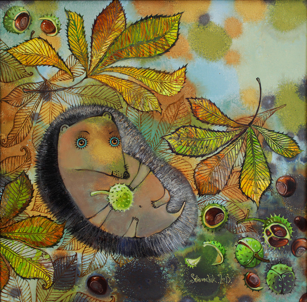 Chestnuts. 2013. 26 x 26 in. (65х65cm). Oil on canvas
