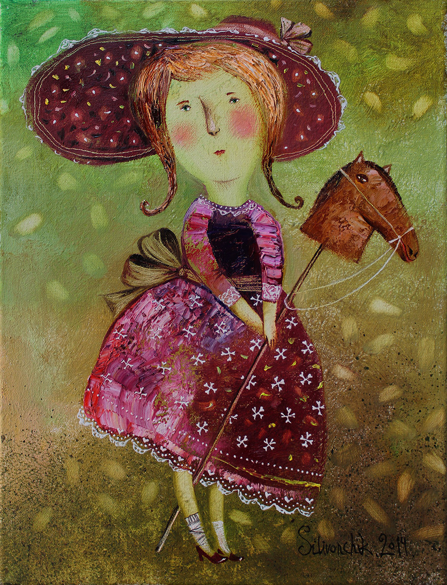Equestrian. 2014. 16 x 12 in. (40х30cm). Oil on canvas