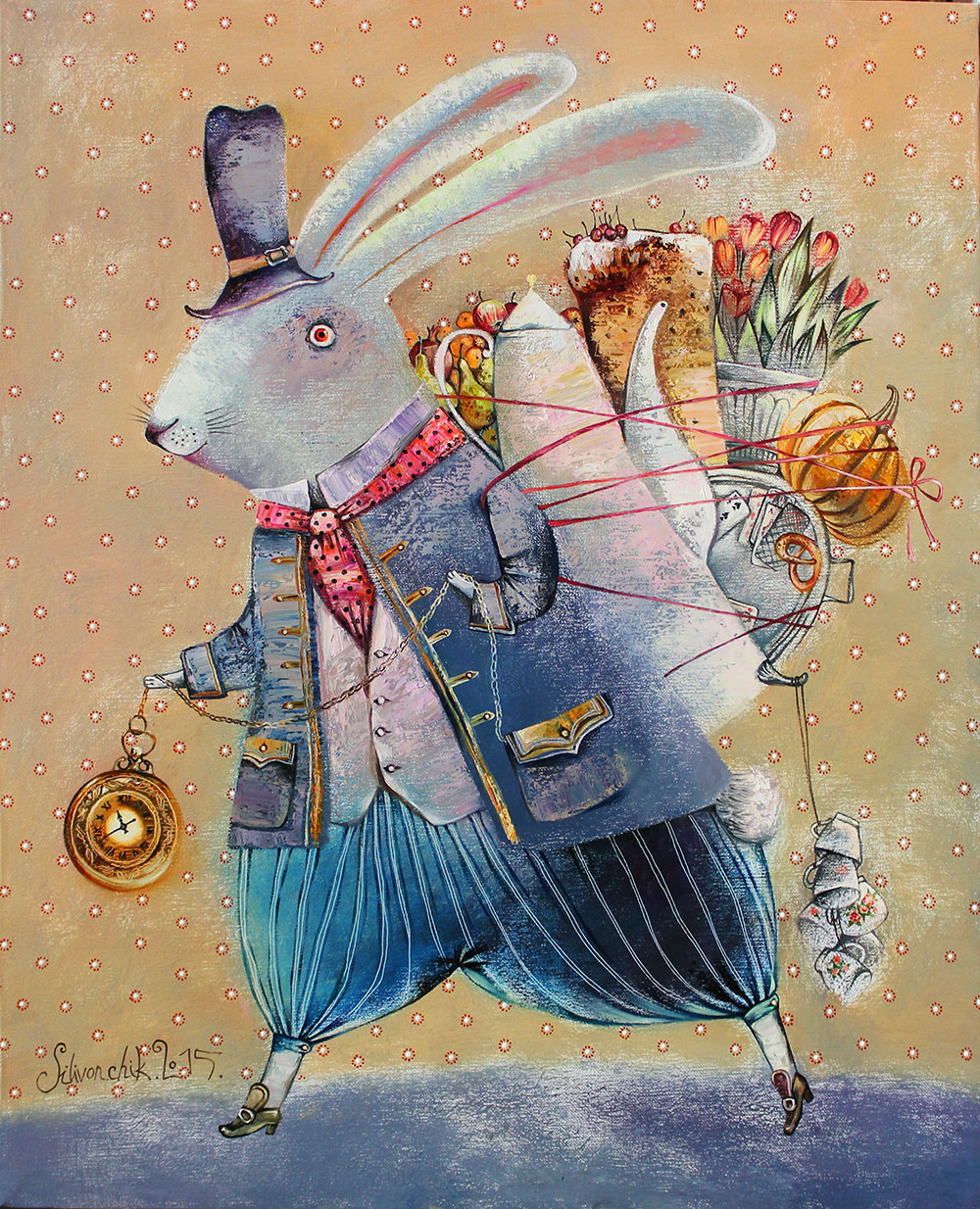 March Hare, 2015, Oil on Canvas 16 x 12 in (40 x 30 cm)