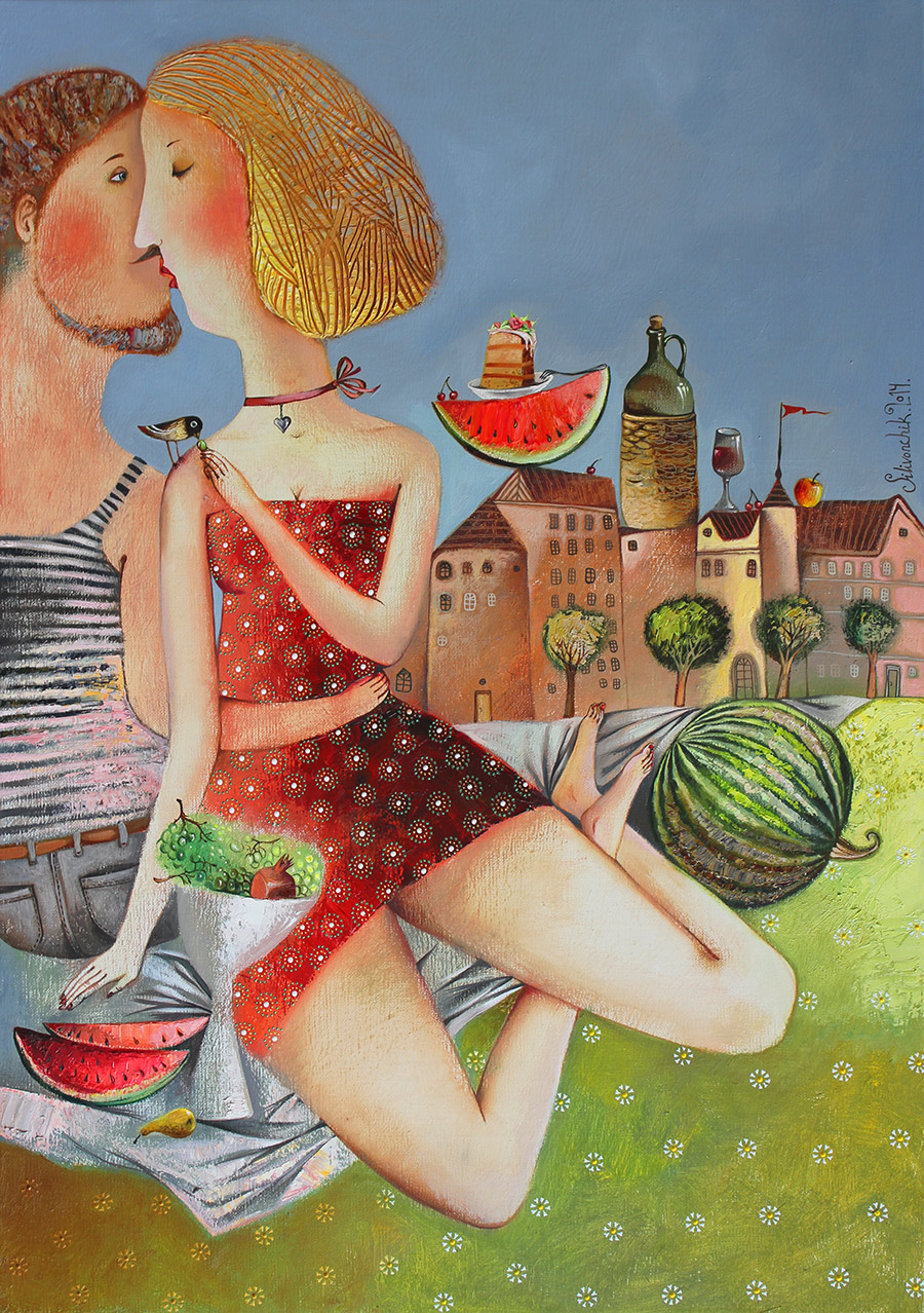 Picnic, 2014, Oil on Canvas, 32 x 20 in (80 x 50cm)