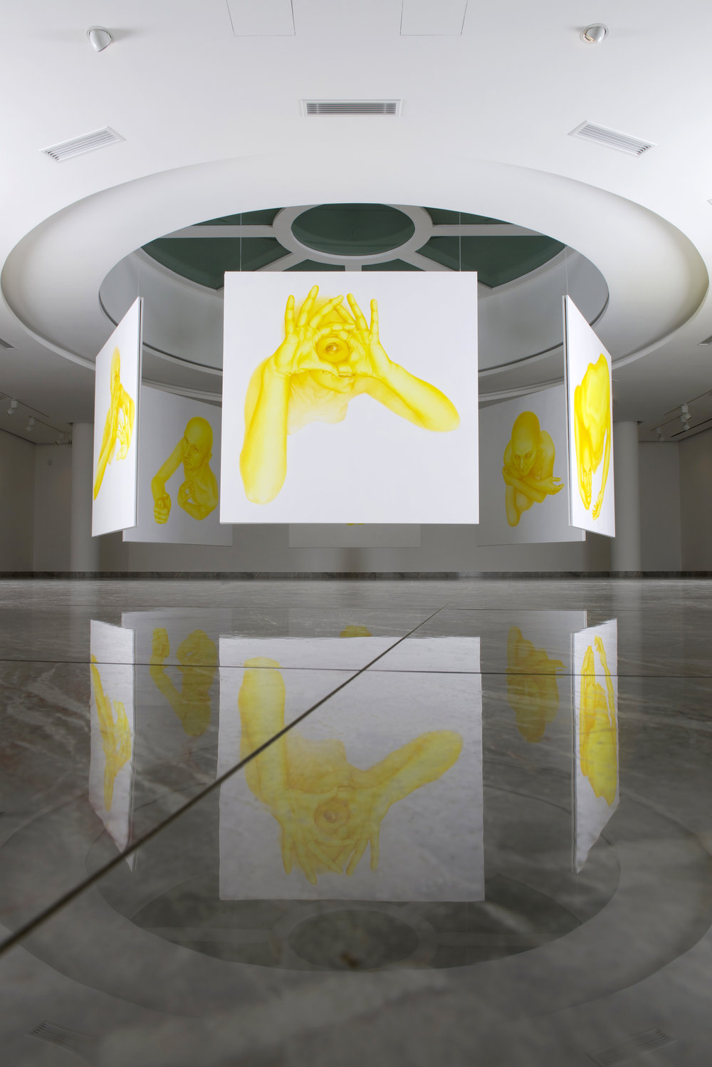 Rotunda, 2016, spatial installation of 12 paintings, each 190 x 190 cm, Nedbalka Gallery, Bratislava, Slovakia