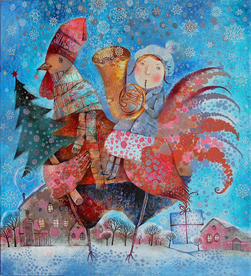 The Holidays Are Coming, 2016, Oil on Canvas, 26 x 24 in (65 x 60 cm)
