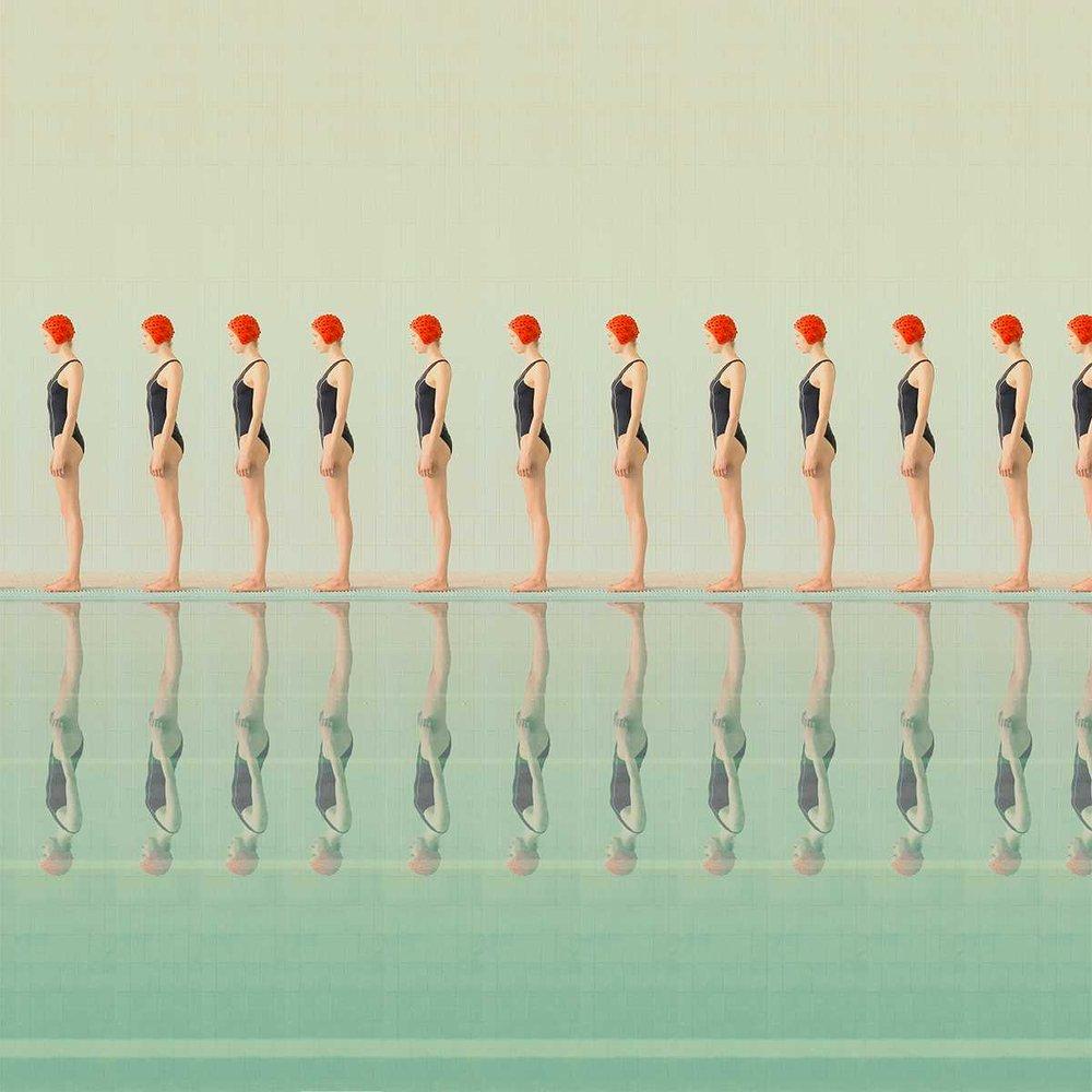 Swimmer 12, Archival Pigment Print, 50 x 50 cm (19.7 x 19.7 in)