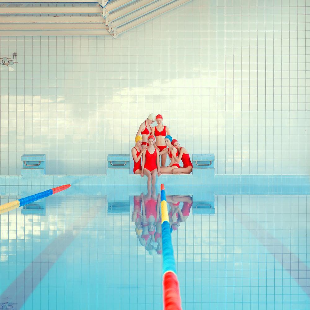 Girl Pool, Archival Pigment Print, 27 1/2 x 27 1/2 in  (70 x 70 cm)