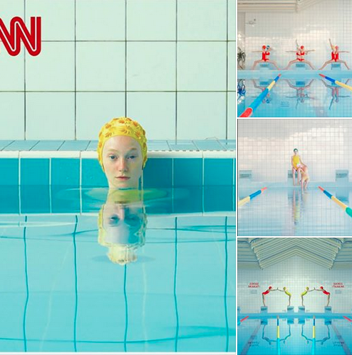 Maria Svarbova, Swimming Pool series photos