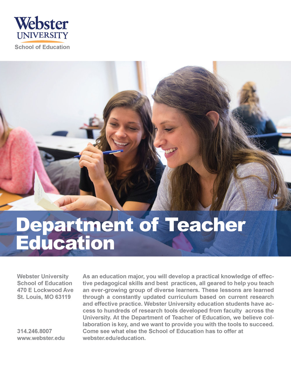 Department of Teacher Education Intro Flyer