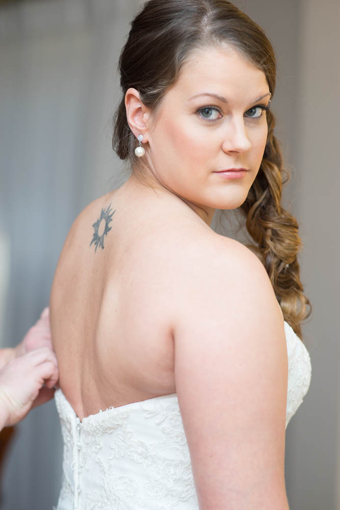 A portrait of a bride from a recent wedding in St. Louis, Missouri.