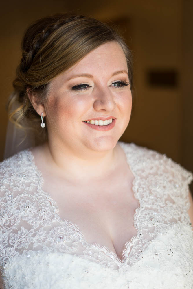 A natural light portrait of a bride.