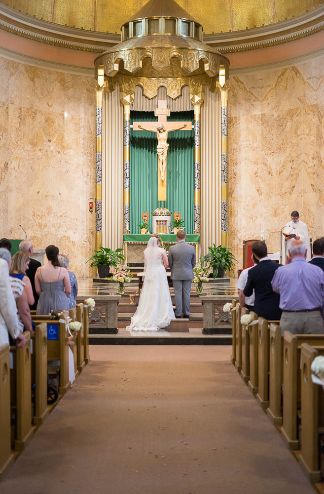A wedding at Our Lady of Sorrows Catholic Church.