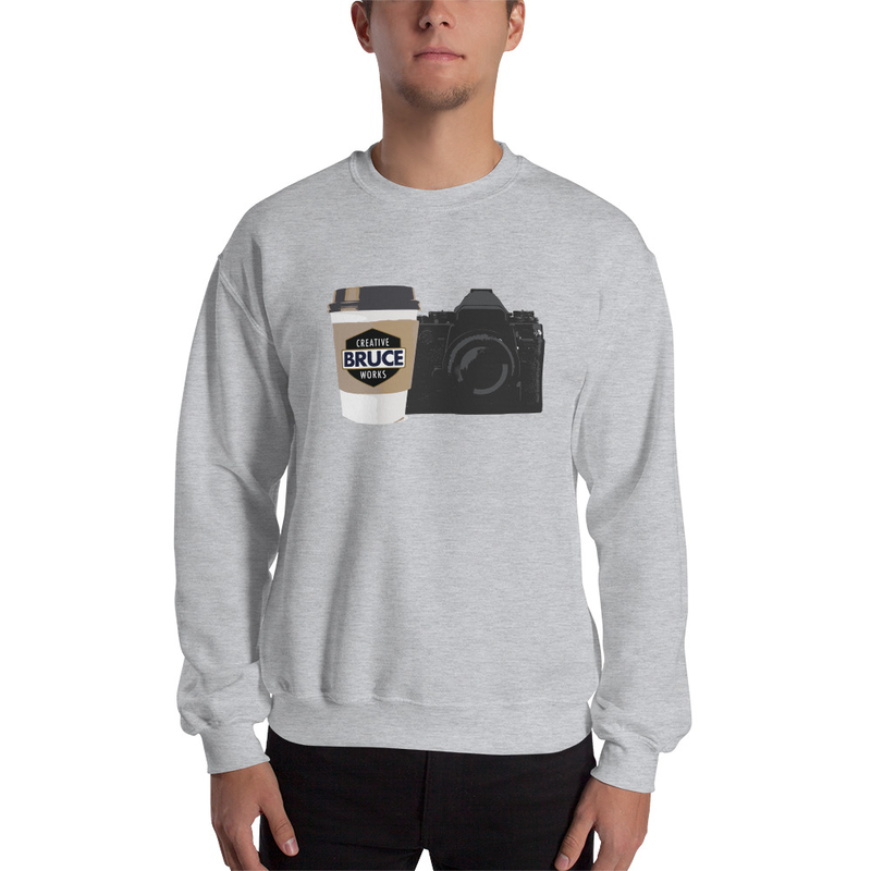 Cameras and Coffee Sweatshirt Mockup