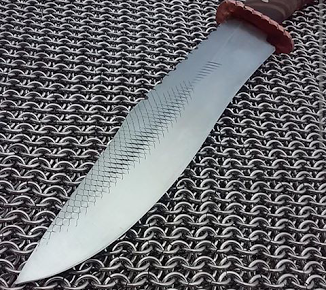 A satin finished blade by the author