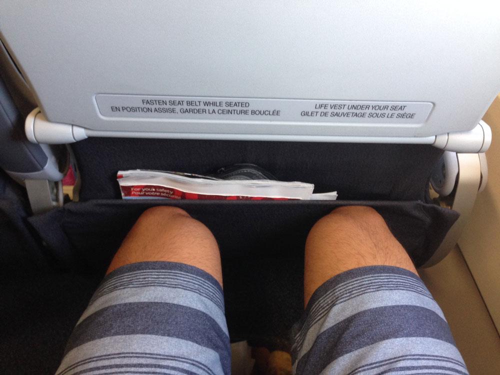 Air Canada Rouge Economy Leg Room