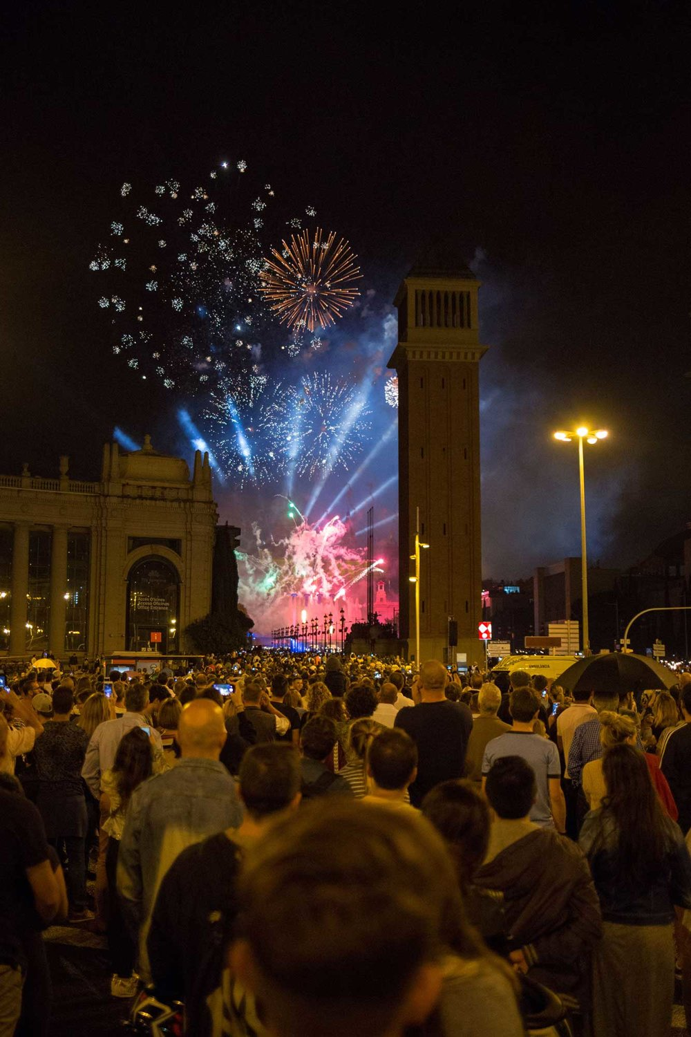 2016 — Fireworks at the Plaça Espanya during the Festival La Mercè